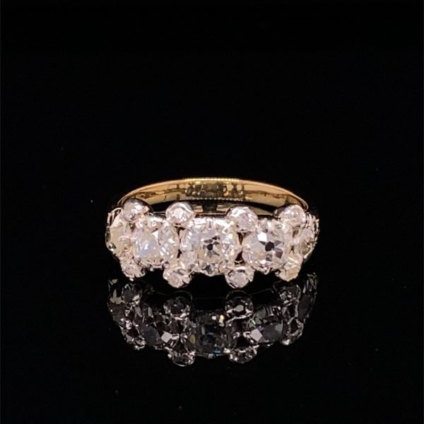 Victorian five stone diamond set ring