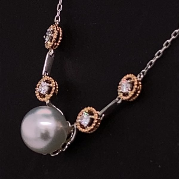 South Sea pearl and diamond necklet