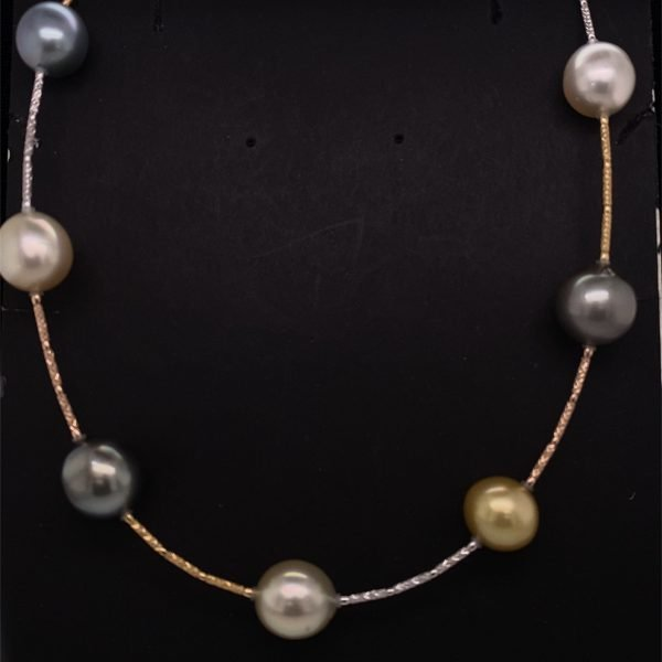 South Sea and Tahitian pearl necklet