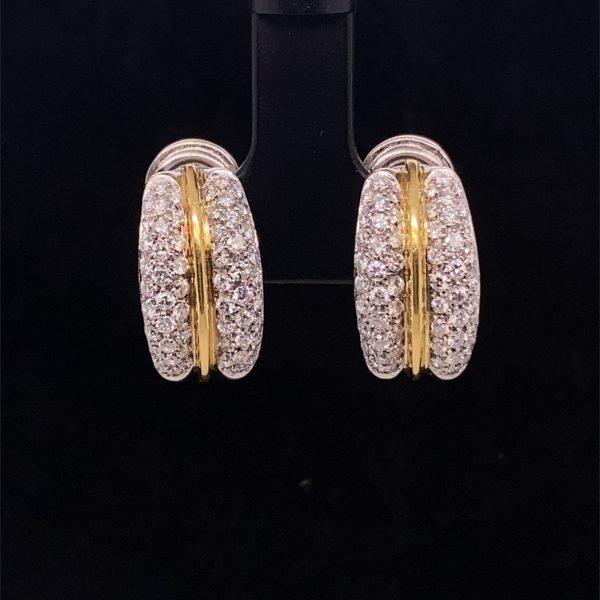 Diamond set earrings