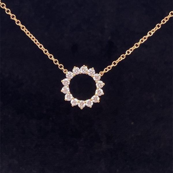 Diamond set necklet