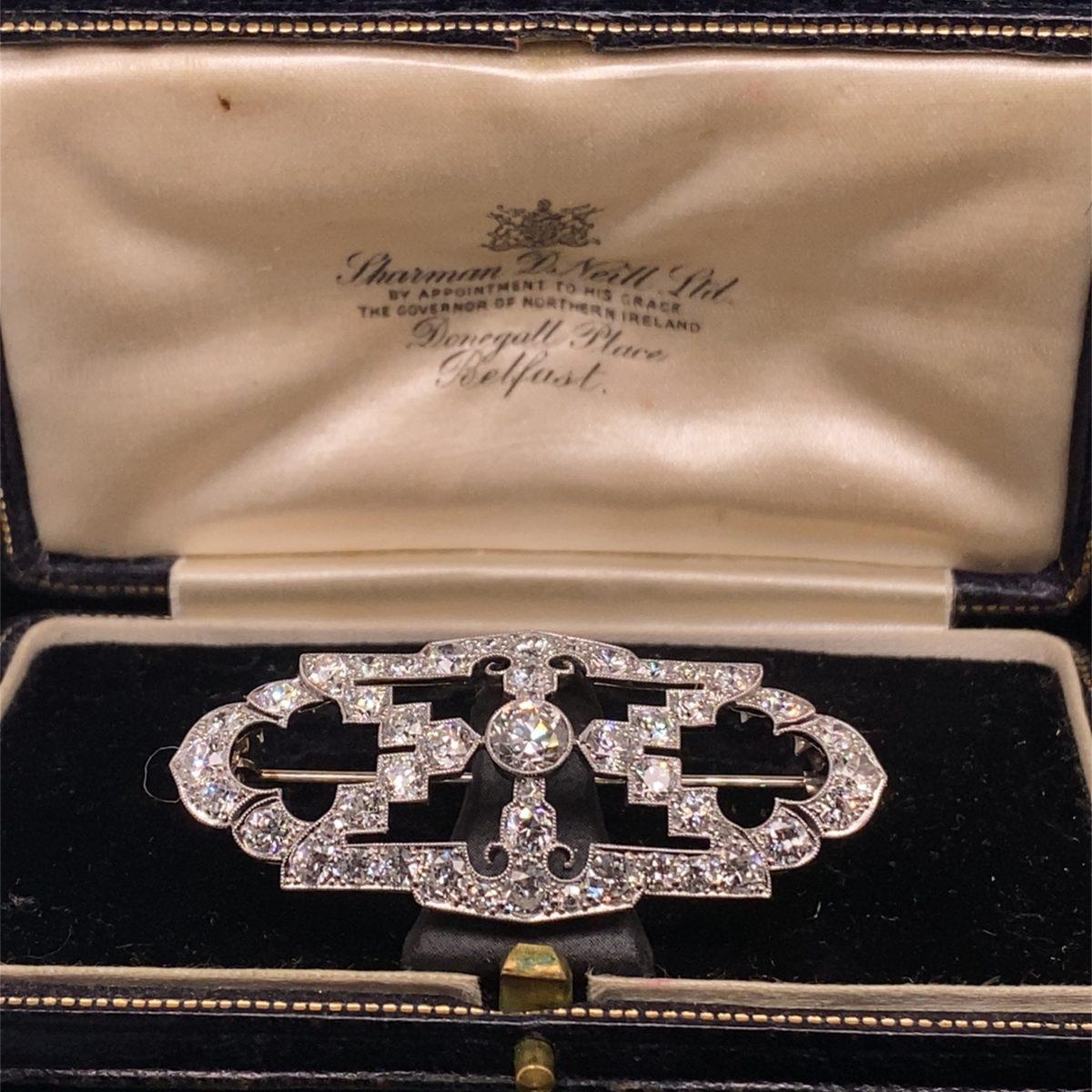 Diamond set brooch
