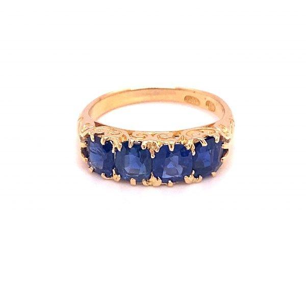Victorian sapphire half hoop ring