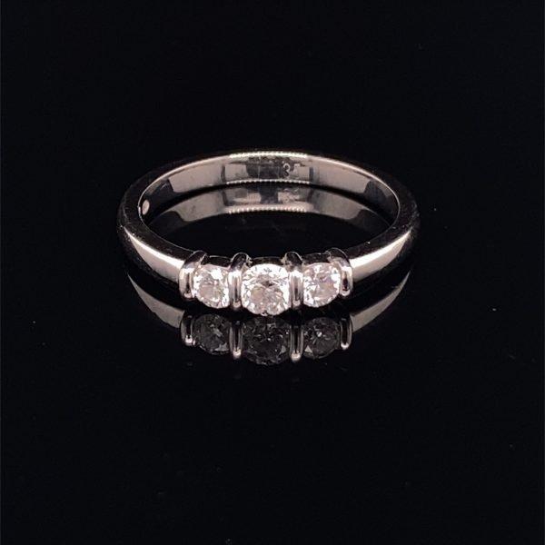 Pearl  and diamond bar brooch