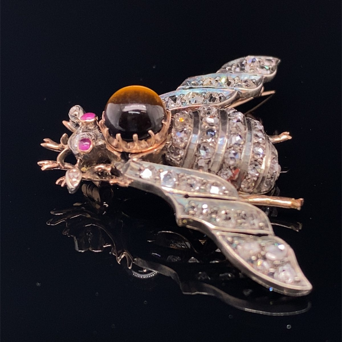 Victorian Bug Brooch