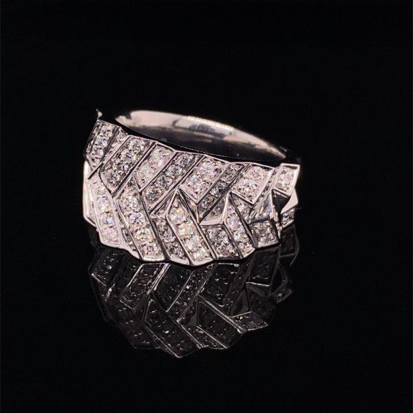 Diamond set statement ring