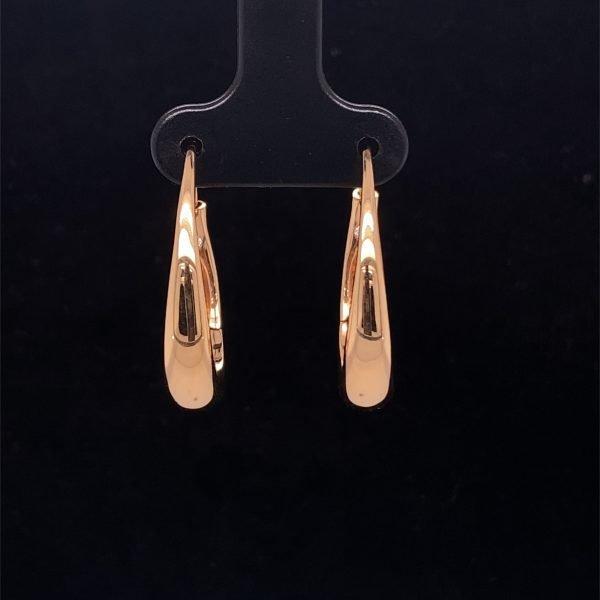 Rose gold hoop huggy earrings